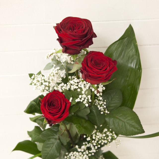 Souvent Confezione di tre rose rosse extra - Campo dei Fiori - Acquisto  KU39